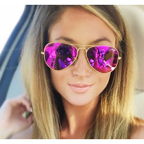 Ray Ban Aviator Color Barbie Pink Rosa Aviador 3025 Grande