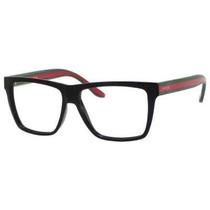 Gafas Gucci Gg1008 Anteojos Brillante Negro / Marco Rojo Ve