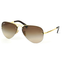Lentes Ray Ban Aviator Rb 3449 001/13 Gold & Brown Gradien