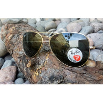 Ray Ban Aviador Rb3025 Marco Dorado Polarizado 001/58 62mm