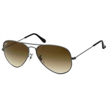 Ray Ban Aviator Gota Grande Rb 3026 004/51 Gun Brown Gradien