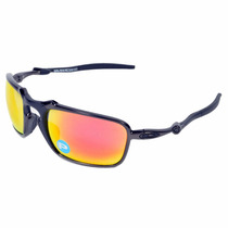 Oakley X-metal Badman Dark Carbon - Ruby Iridium Polarized