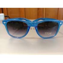 Fashion Lentes De Sol Armazon Retro Color Azul Traslucido