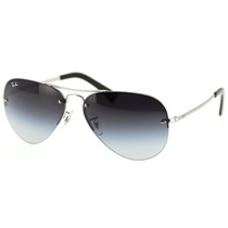 Ray Ban Aviator Rb 3449 003 8g Sirlver Blue Gradient