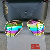 Lentes Ray Ban Aviador , Color Unico Y Limitado Raibow
