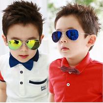 Lentes Para Sol Aviador Para Niños 2 A 10 Años Varios Color