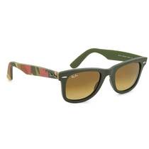 Ray Ban Wayfarer Rb 2140 6062 85 Camufla Green Brown Gradien