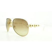 Gafas De La Mujer Gucci Metal Aviator Gafas De Sol, Blanco