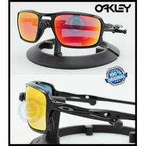 Lente Solar Oakley Triggerman Oo9266-03 Negro Ruby Iridium