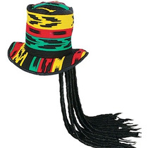 Sombrero Mechones Tipo Rastas, Reggae, Carnaval, Batucada
