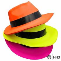 Sombrero Fiestas Gangster Neon Disfraz Boda Xv Años Peluca
