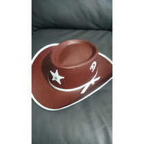Sombrero Vaquero Sheriff Niño Disfraz Vaquerito Fiesta Niño