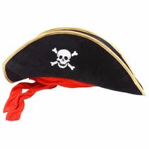 Sombrero Pirata Con Cintas Rojas Fiesta Pirata
