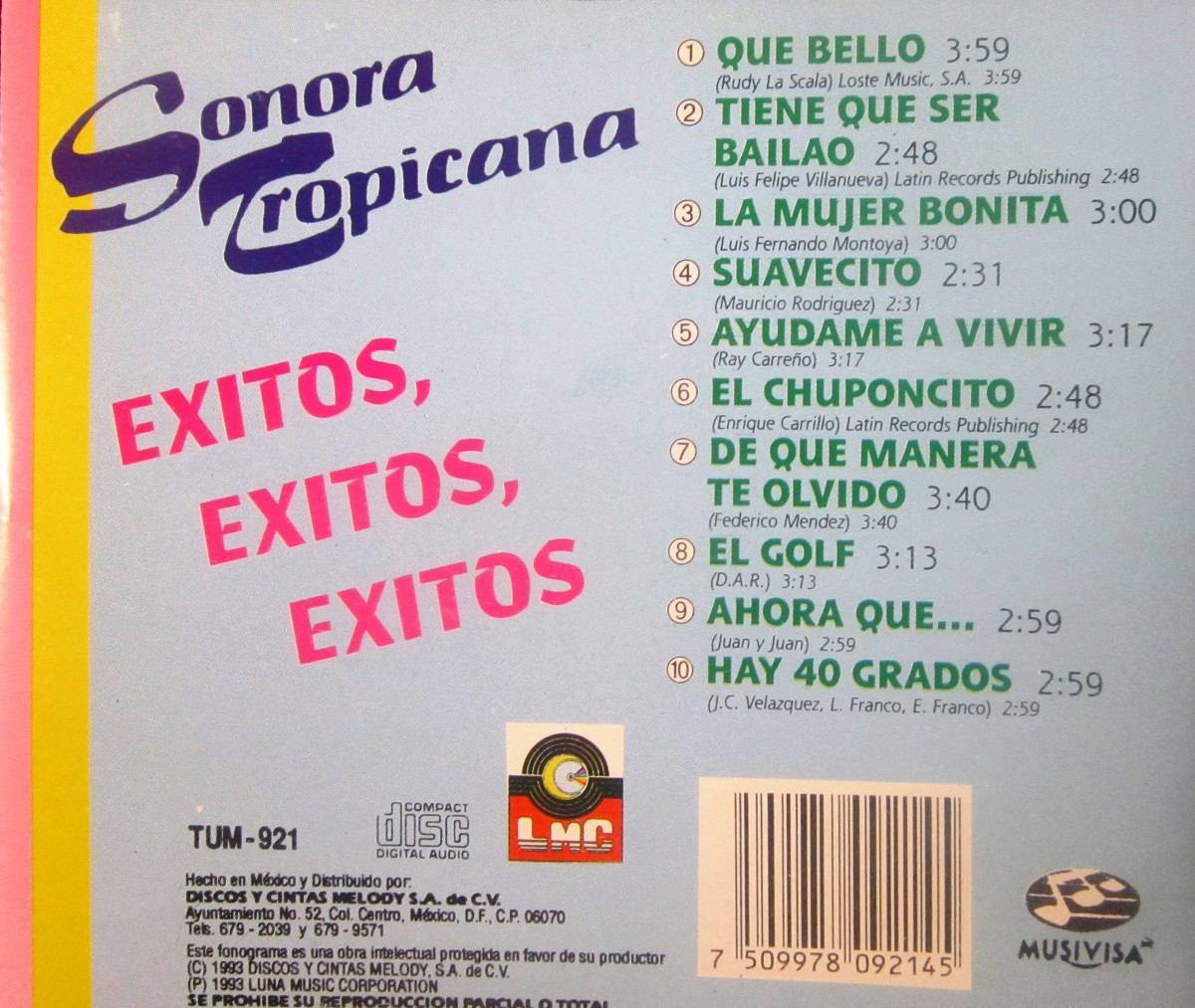 Cd sonora tropicana exitos-exitos-exitos Sonora-tropicana-exitos-exitos-exitos-12058-MLM20053690213_022014-F