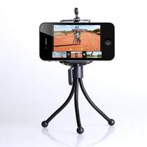 Tripie Flexible Metálico Universal Con Sujetador De Celular