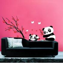 Pandas Jugar - Tatuajes De Pared -wall Etiqueta De La Pared