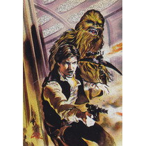 1996 Finest Star Wars Foil Matrix Han Solo Chewbacca