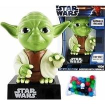 Yoda Figura Star Wars Dulcero Chicle Luz Y Sonido