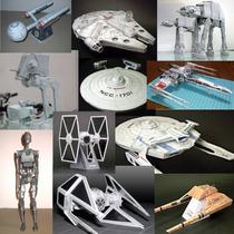 Modelos De Papel Starwars, Startrek, Naves, Drone, Figuras