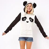 Sudadera De Panda Con Gorro Moda Asiatica