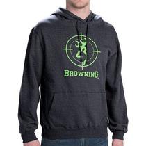 Sudadera Browning Gris / Verde Crosshair Chamarra Caceria Ti