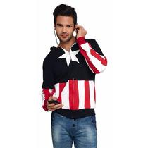 Sudadera Capitan America Con Audifonos Integrados Con Gorro