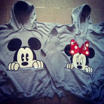 Sudaderas Mickey Minnie + Gorras De Parejas Iguales Novios