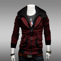 Chamarra Hoodie Slim Fit Hombre Gorro Moda Assassins Creed