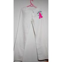 Pants De Dama Aeropostale Color Blanco, Talla Mediana
