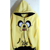 Chamarra Sudadera Jake Hora De Aventura Cartoon Network