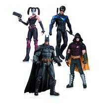 Batman Arkham City Harley Quinn Nightwing Robin 4 Pack