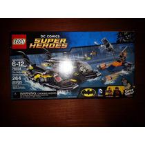 Lego Dc Comics Batboat Batman Robin Deathstroke Figuras Raro