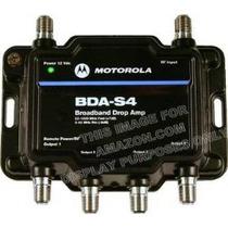 Motorola Amplificador De Señal De 4 Puertos Bda-s4 Cable Mód