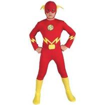 Liga De La Justicia El Flash Del Niño Pequeño Traje