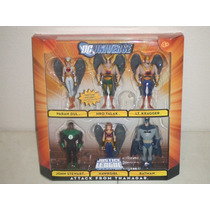 Dc Justice League Unlimited Batman Hawkgirl Thanagar 6 Pack
