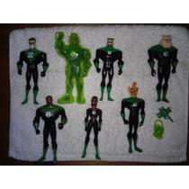 Gren Lantern Set De 7 Figuras Liga De La Justice Unlimited