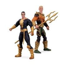 Coleccionables Dc Injusticia Aquaman Vs Negro Adam Figura De