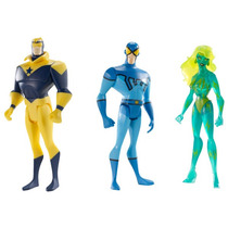 Dc Justice League Unlimited Fire Blue Beetle Booster Gold