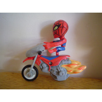 Spiderman En Mini Moto Mide 7 Cms