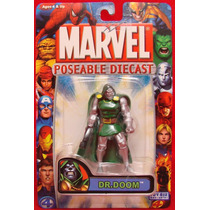 Marvel Dr. Doom Poseable Die Cast Toy Biz Super Raro Hm4