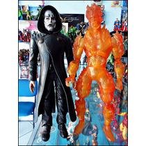 Dr Doom Y Human Torch,de La Pelicula,figuras De 30 Cm,looses