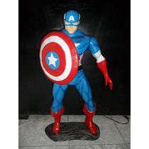 Figura De Resina Del Personaje Capitán America