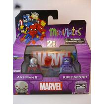 Mu0190 Marvel Minimates W44 Ant Man Ii And Kree Sentry Var.