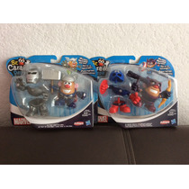 Pack Marvel D 2 Sr Cara D Papa Héroes Combinables Hasbro