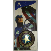 Llavero Escudo Capitán America Marvel The Avengers Dorado
