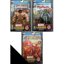 Marvel Legends 3 Figuras De La Serie Ii Thing, Human Torch