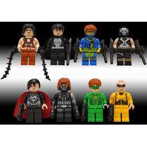 Set De 8 Figuras Whiplas Linterna Verde Punisher Tipo Lego