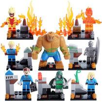 Set De 8, Silver Surfer Doom La Mole, Fantasticos, Tipo Lego