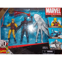 3 Pack Marvel Universe (daredevil, Silver Surfer, Iron Man)
