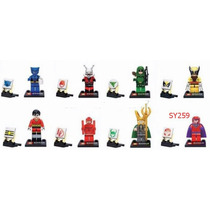 Figuras Super Heroes, Spiderman, Ironman,superman Bloques